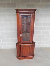 "Mahogany Chippendale Style Corner Cabinet 75.5""H x 31""W"