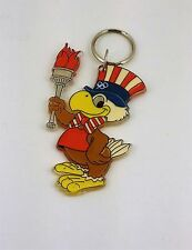 "Los Angeles 1980 Olympics Eagle Sam Mascot Keychain Souvenir 4"" Plastic"