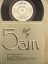 MUSIC FOR 5AM 10CC / HOLLIES / JOHNNY BRISTOL JAMES & BOBBY PURIFY company promo