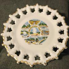 "Vintage Yellowstone National Park Souvenir Tin Tray 11"" plus 7"" souvenir Plate"