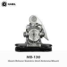 Quick Release Stainless Steel Mobile Radio Antenna Mount MB-130 Silver SO239 UHF