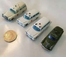 4 x MATCHBOX LESNEY & HUSKY DIECAST AMBULANCES  MADE IN GT BRITAIN