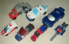 Modern Transformers Action Figures Lot Optimus Prime Legends Class Red Alert