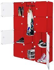 Kesser Kleiderschrank DIY Schrank Regalsystem Steckregal Garderobe rot 600 L