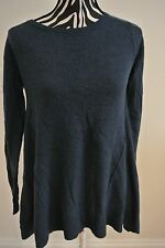 NWT.Philosophy teal heather  color 100% cashmere knit pullover sweater;S