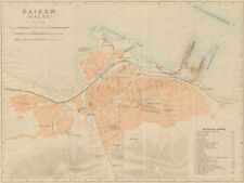 'Dairen (Dalny)'. Dalian antique town city plan. Liaoning, China 1913 old map