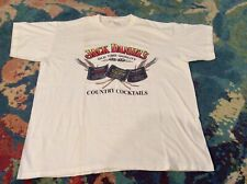 JACK DANIELS Country Cocktails XXL T-Shirt Made In USA VINTAGE 90s WHITE Good