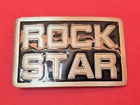 2001 Great American Products Fine Pewter ROCK STAR fashion punk  Belt Buckle