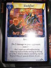 HARRY POTTER TCG GAME CARD CHAMBER OF SECRETS BACKFIRE! 92/140 COM MINT ENGLISH