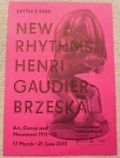 Henri Gaudier-Brzeska POSTER New rhythms  2015 ART EXHIBITION POSTER