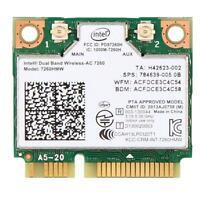 Dual Band Intel 7260 AC 7260HMW 867Mbps 5G Wireless Wifi BT 4.0 Mini PCI-E Card
