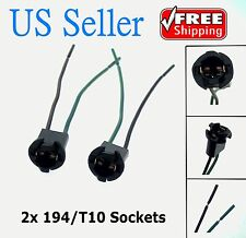 2x T10 168 194 2825 927 928 W5W Light Bulb Wire Wiring Harness Sockets