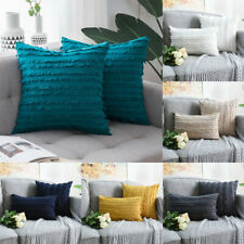 Boho Fringe Tassel Cushion Cover Bohemian  Cotton & Linen Throw Pillow Case Sofa