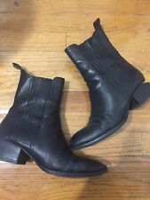 ALEXANDER WANG ANOUCK BOOT WITH RHODIUM 39.5 WOMENS BLACK ANKLE BOOTIES