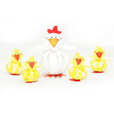 NEW Easter Children Craft Kit To Make and Display, Chickens Little Paper Friends