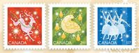 CHRISTMAS 2019 = set of 3 DIE CUT stamps from Quarterly Pack Canada MNH VF