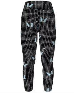 Lularoe TC Tall Curvy Leggings Butterfly Butterflies Plaid New Print NWT