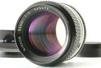 【Near Mint w/ Hood】 NIKON Nikkor AIS AI-S 85mm F/ 2 MF Portrait Lens from JAPAN