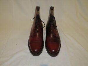 Brooks Brothers Peal Co Crockett & Jones Shell Cordovan Leather Boots 11D NWB