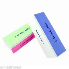 4-pasos Archivo de Arte de Uñas Búfer de bloque de lijado Acrílico UV Gel Tips Pedicura Herramienta para armar uno mismo
