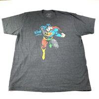Justice League Men's DC Comics Graphic Short Sleeve T Shirt Gray Size XXL