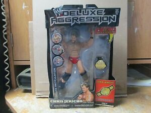 """WWE DELUXE AGGRESSION """"CHRIS JERICHO"""" WITH CHAMPIONSHIP BELT! SEALED! RARE FIND!"""