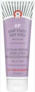 First Aid Beauty KP Bump Eraser Body Scrub 8 oz size with 10% AHA -NEW sealed