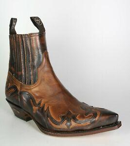 4660 Sendra Botines Britnes Flo. Marron Evol.tang Botas Zapatos Cuero