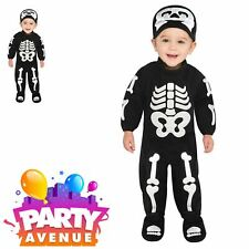 Bitty Bones Jumpsuit Skelleton Baby Toddler Halloween Costume Outfit 6-12mnths