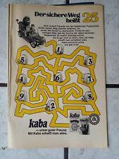 Kaba/Augsburger Puppenkiste- alte Werbe Comic Seite aus den 70 er Jahren