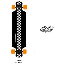 Sale% Marken Aloiki Longboard drop Through rollbrett Finish schwarz Orange weiß