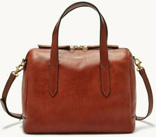 Fossil Sydney Satchel Crossbody Medium Brown Leather Bag SHB1978210 NWT $178 Ret