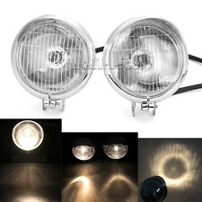 2× Chrome Motorcycle Spot Lights Passing For Kawasaki VN 900 1500 Vulcan Classic