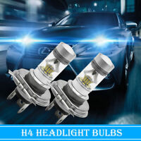 2X Bombilla H4 100W 20SMD LED para Faro Delantero Coche Ahorro de energia Blanco