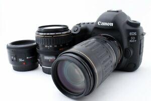 Canon EOS 5D Mark IV 30.4MP 28-105/100-300/50mm Lens [Exc w/8GB SD [711]