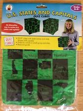 NEW US States And Capitals Quiz Cubes- Carson Dellosa 2 Pack Grades 4-5+ Fun!