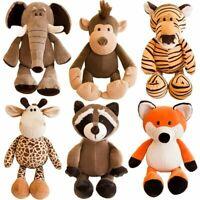 Stuffed Tiger Animal Toy Zoo Plush King Soft Doll Giraffe Lion Monkey Dog Cute