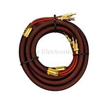 Choseal OCC Banana Plug high quality HIFI Speaker stereo Cable Pair 2.5m 8.2ft