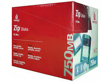 NEW SEALED LOT 10 of IOMEGA ZIP 750 DISKS PC/MAC - BRAND NEW NEVER OPENED DISCS