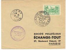 """ALGERIA-FRANCE 1951 RALLYE AERIEN D'ALGERIE WITH """"ALGER R.P."""" TO PARIS"""