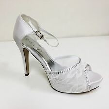 Women's Mary Jane Pumps Heels Peep Toe Lace Hollow Sandals Shoes Wedding Sizes