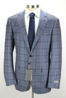 NWT $1595 Canali 1934 Wool Kei Jacket Coat 42 R (52 EU) Light Blue Check
