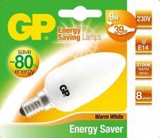 GP Energiespar-Lampe E14 9W / 39W Kerze Warmweiß Lampe Glüh-Birne Leuchtmittel