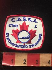 Vintage CASSA STAR 2 SYNCHRONIZED SWIMMING Canada Patch 876