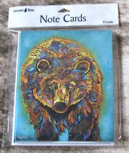 "LEANIN TREE ""Wuud-uht"" #35563~8 Notecards~Bear~by Artist Micqaela Jones"