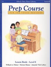 Alfred's Basic Piano Young Beginner Prep Course Lesson E Book Dotted Quarter