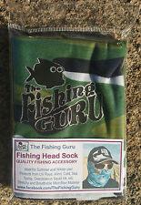 GREEN CAMO FACE SHIELD / HEAD SOCK / BALACLAVA - UV & WIND BUFFER FOR FISHING