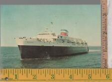 VINTAGE UNUSED FERRY POST CARD THE BLUENOSE  BAR HARBOR ME TO YARMOUTH, NS