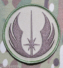 JEDI ORDER STAR WARS LOGO US MILITARY TACTICAL ARMY MORALE MULTICAM HOOK PATCH