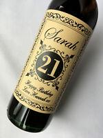 Personalised Shabby Chic Kraft Birthday Wine Label 18th, 21st, 30th, 40th